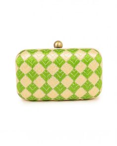 Spring Green and Cream Phulkari Clutch