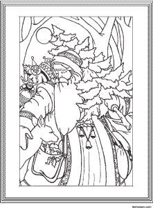 free vintage christmas design coloring pages - Google Search