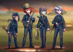 10 points to anyone who guess the reference! Anime Military, Military Girl, Comic Pictures, Manga Pictures, Old Anime, Anime Art, Guerra Anime, Anime Uniform, Cool Anime Girl