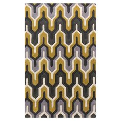Hand-tufted Geometric Contemporary Area Rug (5' x 8')