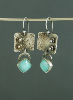Amazonite Totem Earrings~ by Maggie j jewelry