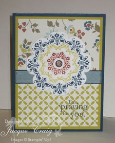 Daydream Medallions!  www.StampinWithJacque.com - Jacque Craig, Stampin' Up! Demonstrator