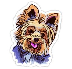 Yorkshire Terrier Shower Curtain featuring the drawing The Happy Smiley Yorkie Cutie by I Am Lalanny Yorkie Dogs, Puppies, Yorkies, Coffee Cup Art, Basic Dog Training, Dog Accessories, Dog Art, Smiley, Love Of My Life