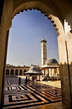 The Umayyad Mosque, also known as the Great Mosque of Damascus, located in the old city of Damascus, is one of the largest and oldest mosques in the world. It is considered by some Muslims to be the fourth-holiest place in Islam.