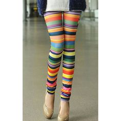 Colorful Print High Elasticity Straight Leg Women's Leggings, AS THE PICTURE, ONE SIZE in Leggings | DressLily.com