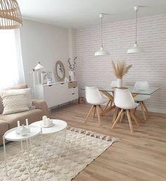 Boho Living Room, Home And Living, Living Room Decor, Modern Living, Small Living, Dining Room, Cozy Living, Coastal Living, Dining Table
