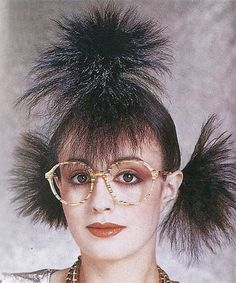 Black Bob Wig Short Wig Costume Supermodel 6042 - So Funny Epic Fails Pictures 80s Haircuts, Vintage Haircuts, Weird Haircuts, Photoshop Fails, Wacky Hair, Crazy Hair Days, Black Bob, Short Wigs, Hair Photo