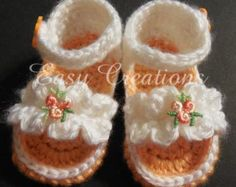 PDF CROCHET PATTERN Baby Sport Sandals Sizes by easycreations