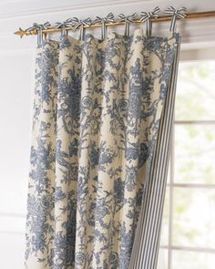 Toile Linens Toile Reversible Curtain - traditional - curtains - Horchow