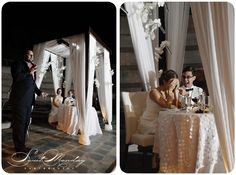 another sweetheart table idea  (I would get to pick 2 chuppahs: ceremony and sweetheart table)