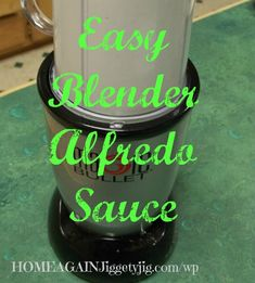 This is THE recipe!  You can fix your family a very quick, simple and deliciously healthy Alfredo sauce. As a bonus it is also Low Carb, and lower in fat than other Alfredo sauces.  All you do is blend, heat and eat.