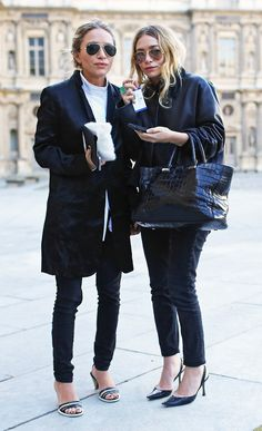 MARY-KATE + ASHLEY | PARIS FASHION WEEK STREET STYLE SHOT - Olsens Anonymous