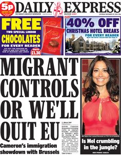 Daily Express front page, 29/11/14
