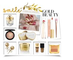 Golden Girls: Gold Beauty by igiulia on Polyvore featuring beauty, Kevyn Aucoin, Tom Ford, MAC Cosmetics, Kenzo, Shanghai Tang, Oribe, Yves Saint Laurent, Gucci and Lee Renee