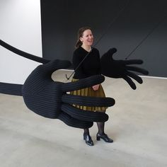 """""""German artist Wiebke Siem makes incredible textile art objects that have persona's from a fairy tale, fantastic anthropomorphic forms made from everyday textiles of suits and towels. Sculptures that have appear to have a life locked within them like a puppet waiting to be animated by human touch."""" via Thread, Fashion and Costume: Wiebke Siem"""