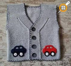Baby Vest Decoration Techniques – Knit Vest Decorations for Babies – TC Arzu Parlak – Join the world of pin Baby Knitting Patterns, Crochet Baby Dress Pattern, Baby Dress Patterns, Knitting For Kids, Crochet For Kids, Free Knitting, Knit Crochet, Baby Boy Vest, Baby Cardigan