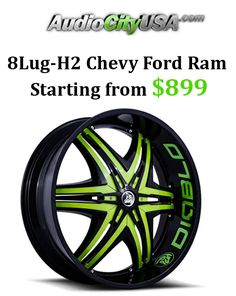 Get 8Lug-H2 Chevy Ford ram price starting from $899 at Audio City USA. 8Lug Wheels Rims at AudioCityUSA.com for H2 Hummer Ford 250, Chevy 2500,Ram 8Lug. 22″24″26″28″30″ Wheels and Tires pkg Financing w/No Credit Check.Snap up now and avail this offer. For more Audio City USA Coupon Codes visit:  www.couponcutcode.com/coupons/8lug-h2-chevy-ford-ram-starting-899/