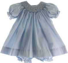 Hiccups Childrens Boutique - Infant Girls Blue Gingham Bishop Dress with Bloomers, $38.00 (https://www.hiccupschildrensboutique.com/infant-girls-blue-gingham-bishop-dress-with-bloomers/)