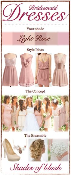 Bridesmaid Dress Concept Cards for each of my special ladies #bridesmaids #mix-matchdressinfo