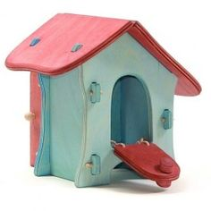 Ostheimer Hen House. A cozy coop for a flock of #Ostheimer wooden hens, chicks and a rooster! Made in Germany. $69.95