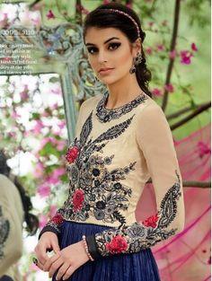 Blue Color Heavy Embroidered Anarkali Suit for Diwali
