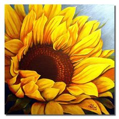 Sunflower #2 by Rita C. Ford: I need this beautiful art because we're getting still more snow today. And I'm craving the color of sunshine.