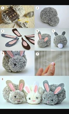 Kids Discover Trends: Pom pom - Me (Lele) he and the kids crafts for kids for teens to make ideas crafts crafts Kids Crafts Cute Crafts Craft Projects Arts And Crafts Bunny Crafts Craft Tutorials Cute Diys Rabbit Crafts Easter Crafts For Adults Bunny Crafts, Easter Crafts For Kids, Cute Crafts, Diy For Kids, Diy And Crafts, Rabbit Crafts, Easter Ideas, Arts And Crafts For Adults, Children Crafts