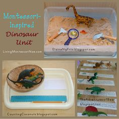 Montessori-Inspired Dinosaur Unit (roundup post with links to lots of Montessori-inspired printables and activities)