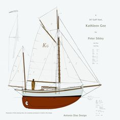 This project has spun-off from the Gaff Yawl, Katherine Ann. We've gone to a longer waterline, less rake to the transom. The rig has a larger Mizzen, meant to add some drive and not just be a…