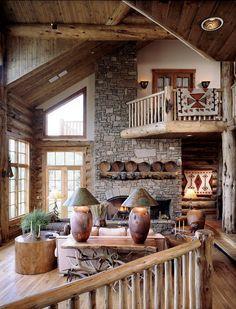 r u s t i c ✜ comfort ~ log home decor