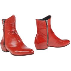 Officine Creative Italia Ankle Boots (52335 RSD) ❤ liked on Polyvore featuring shoes, boots, ankle booties, red, red leather booties, leather boots, short boots, red short boots und leather ankle booties