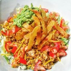 21 Day Fix Approved Taco Salad  (2 Green, 1 Red, 1 Blue and 1 Yellow)  // 21 Day Fix // fitness // fitspo // workout // motivation // exercise // Meal Prep // diet // nutrition // Inspiration // fitfood // fitfam // clean eating // recipe // recipes // Taco Tuesday