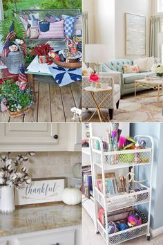 Recreate a Patriotic Porch with this Pinterest Challenge blog hop. Repurposed vintage textiles and Americana antiques combine for a charming vignette.