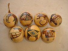 Native American Christmas Gourd Ornaments. Nadja 1993 - 2000