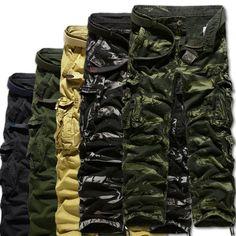 Winwinus Mens Bomber Camouflage Windproof Oversize Trousers Cargo Pants