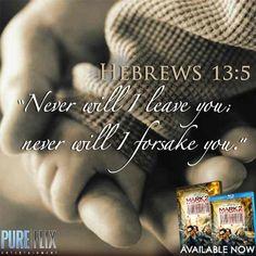 #Hebrews13:5 #Bible #Verse #Scripture #PureFlix #Daily #Word #Hands #Baby #God #Jesus #Lord #Christ