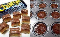 INGREDIENTES  1/2 xícara de manteiga  (100g)   110g de  chocolate amargo ou meio-amargo   1 1/3  xícara de açúcar   3 ovos grandes   1 1/2 ... Muffin, 1, Cupcakes, Breakfast, Butter, Eggs, Middle, Morning Coffee, Muffins