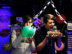 Dan and Phil at Phil's early birthday :)