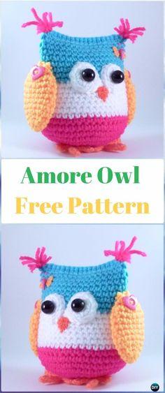 Amigurumi Amore Owl Free Pattern - Amigurumi Crochet Owl Free Patterns