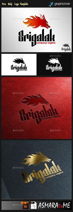 Srigalak - Fire Wolf Logo