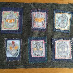 ウルトラ兄弟です。 ウルトラ誰か分からないので名前を刺繍してみようかな…。 #手芸 #フリー刺繍 #ウルトラマン #刺繍