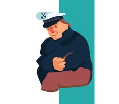 Sailor And His Pipe by ChristobalMikhovski on @creativemarket