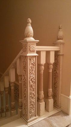 Staircase Railing Design, Wood Railing, Wood Staircase, Stair Handrail, Wooden Stairs, Wooden Front Door Design, Wood Bed Design, Wooden Front Doors, Wood Furniture Legs