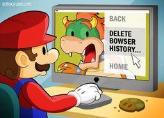 roboxstudios:  Mario taking care of business… #Nintendo #Bowser #Mario