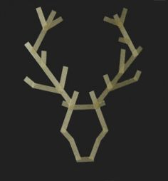 DIY washi antlers - craft project for boy's bedroom Popsicle Stick Crafts, Popsicle Sticks, Craft Stick Crafts, Craft Sticks, Popsicle Stick Snowflake, Holiday Fun, Christmas Holidays, Christmas Decorations, Diy Photo