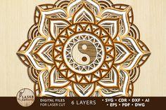 Cricut, Free Design Resources, Free Svg, Craft Logo, Laser Art, Scroll Saw Patterns, Mandala Pattern, Art Themes, Yin Yang