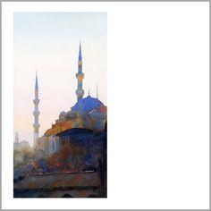 Blue Mosque, Istanbul - Michael Reardon.  Love the colors!