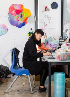 Details from the studio of Sydney artist Louise Zhang. Photo - Nikki To for The Design Files.