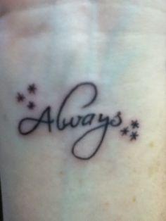 harry potter always tattoo on wrist