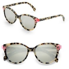 Marc By Marc Jacobs 51mm, Mirrored Cat Glasses (225 BRL) ❤ liked on Polyvore featuring accessories, eyewear, eyeglasses, havana fuschia, marc by marc jacobs eyewear, marc by marc jacobs eyeglasses, lens glasses, cat eye glasses and cat-eye glasses
